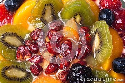Cake with fresh fruits