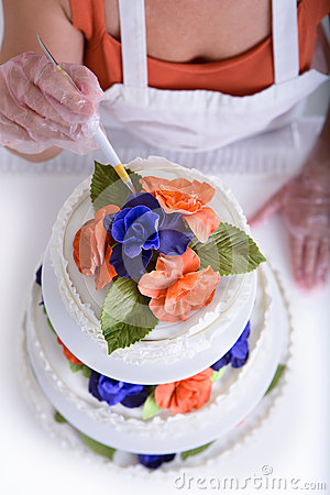 Free Cake Making From Above Stock Photo - 33896130