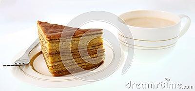 Cake and milk tea