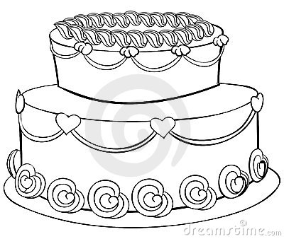 Cake Outline Royalty Free Stock Photography Image 20699647