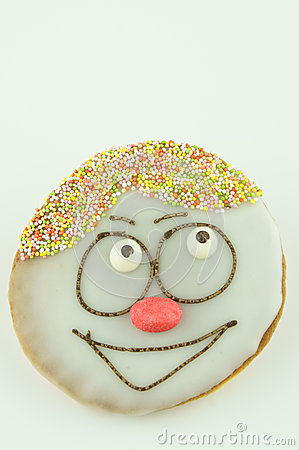 Cake with painted face