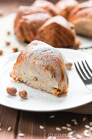 Cake with rice and nuts