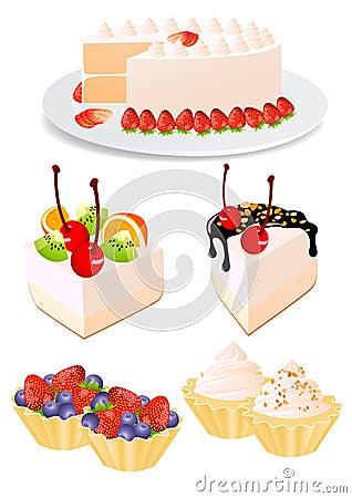 Free Cake Set Stock Images - 10329564