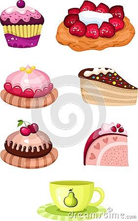 Free Cake Set Stock Image - 24404761