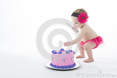 Smashed Cake Clipart : Cake Smash Shoot: Baby Girl And Big Cake! Royalty Free ...