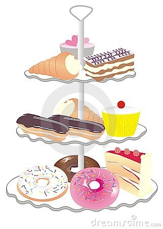 Free Cake Stand Royalty Free Stock Images - 4148099