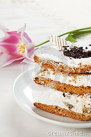 Cake and tulip