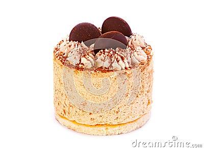 Cake on white