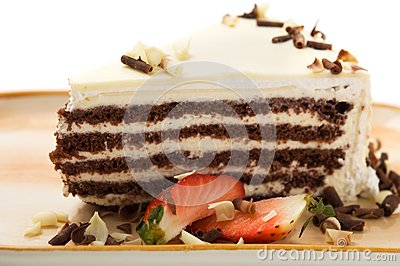 Cake with white chocolate