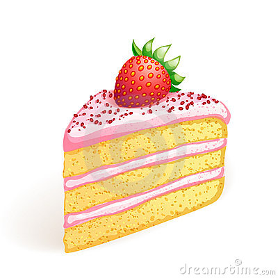 Free Cake With Strawberry Stock Images - 15391994