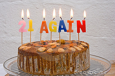 Cake for those worried about getting old.