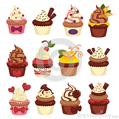 Free Cakes And Cupcakes Pastry Or Bakery Vector Template Icons Stock Images - 87084714