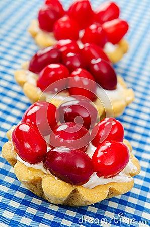 Cakes with cornel berries