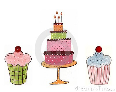 Cakes. Decorative elements