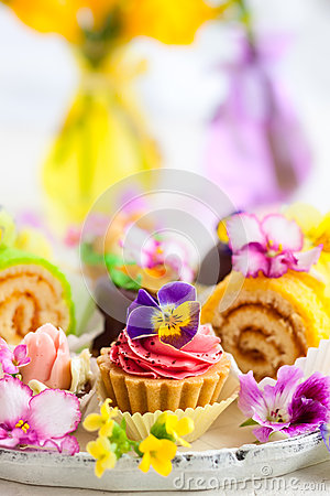 Free Cakes For Afternoon Tea Royalty Free Stock Photo - 53038875