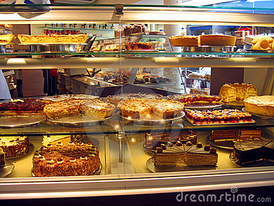 Cakes in Patisserie