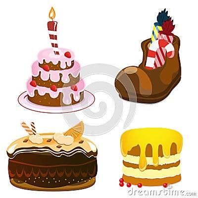 Cakes set
