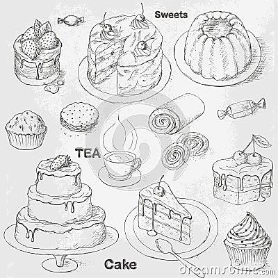 Free Cakes Set Stock Photo - 28716620