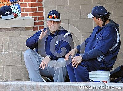 Cal Ripken Jr. Coaching High School Baseball Editorial Photography