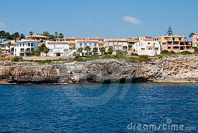 Cala Anguila luxury villas and the shore, Majorca