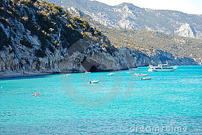 Cala Luna.Emerald waters in Sardinia