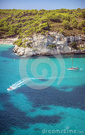 Free Cala Macarella On Menorca, Balearic Islands, Spain Stock Images - 47199824