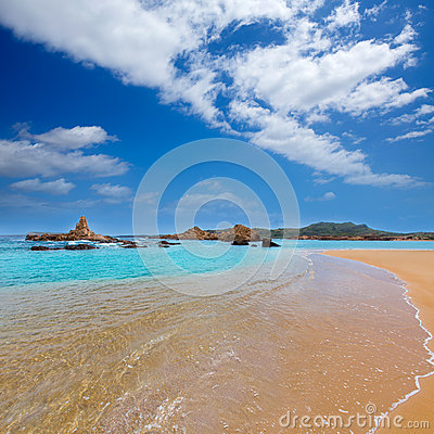 Free Cala Pregonda In Menorca At Balearic Islands Stock Images - 35149554