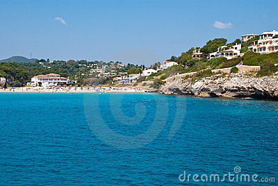 Cala Romantica Beach and hotels, Majorca, Spain