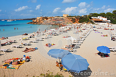 Cala Saona Beach in Formentera Editorial Photography