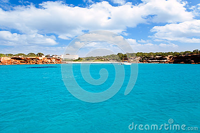 Cala Saona beach in Formentera Balearic islands