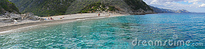 Cala Sisine beach panorama - Sardinia, Italy