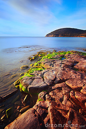 Cala Violina tuscan beach. Mediterranean sea.