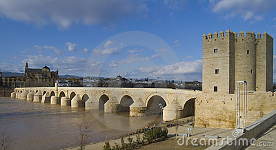 Calahorra and Roman bridge in Cordoba