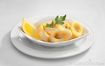 Calamari with lemon