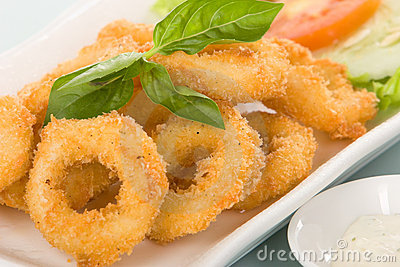Calamari or onion ring