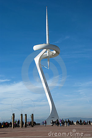 Calatrava tower - Barcelona Editorial Stock Image