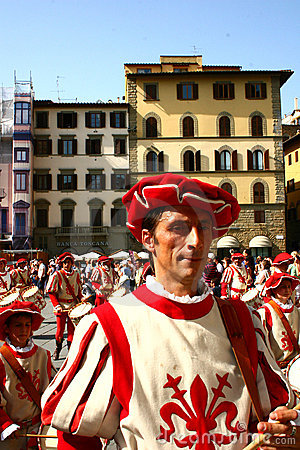 Calcio storico in Florence, Italy Editorial Stock Photo