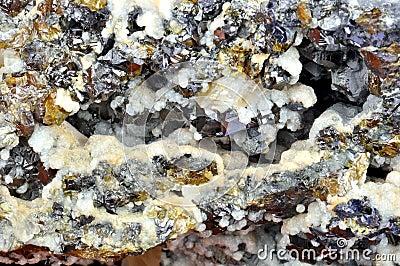 Calcite, galène, sphalérite