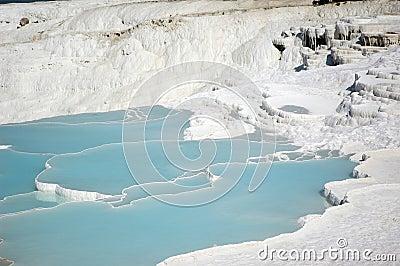 Calcium waterfalls