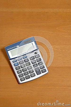 Calculadora na mesa