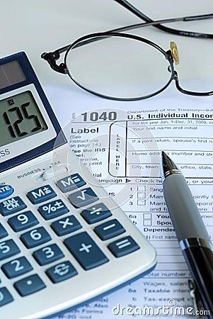 Calculate the United States income tax return