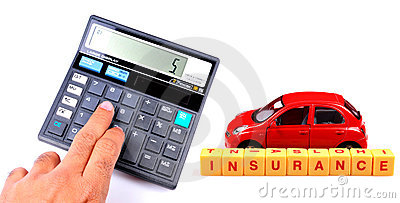 Calculating car insurance concept