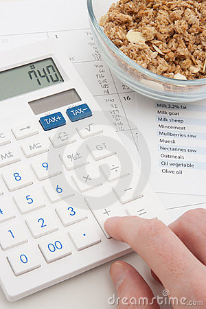 Calculating daily nutrition intake