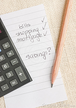 Calculating spendings and savings