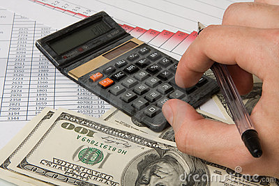 Calculation of finances diagrams
