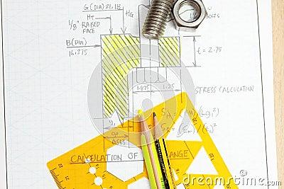 Calculation of flange bolt