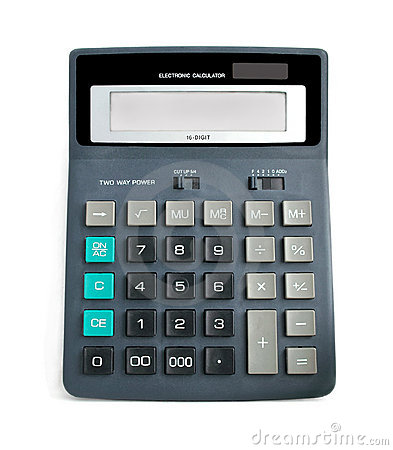 Free Calculator. Stock Images - 13318374