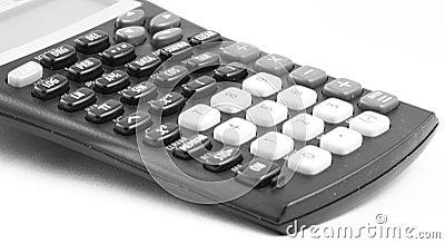 Calculator against blank