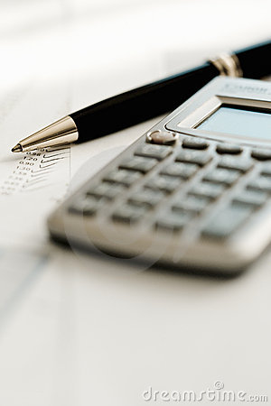 Free Calculator And Pen Royalty Free Stock Photography - 8591937