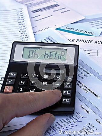 Calculator & bills